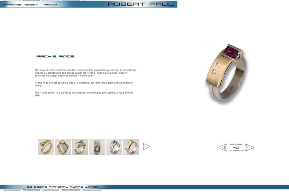 Robert Paul Jewellery Website Design