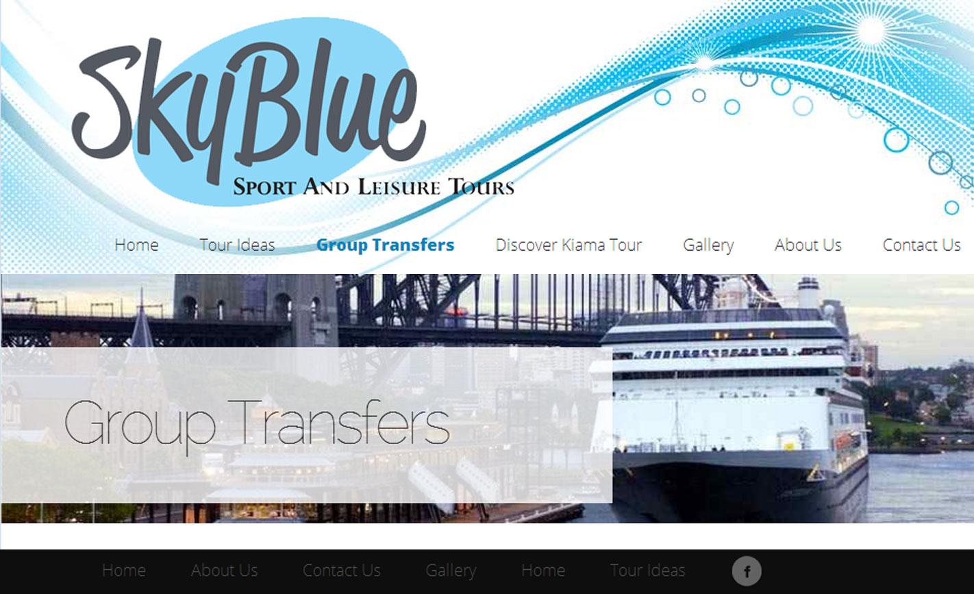 Sky Blue Sport & Leisure Tours Website Design